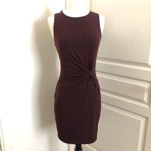 Velvet By Graham & Spencer maroon twist mini dress
